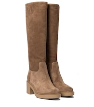 Hynde suede knee-high boots