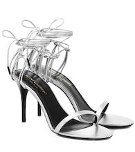 Lexi 90 metallic leather sandals