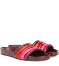 Hellea quilted leather slides