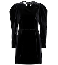 Valentino bow back velvet dress