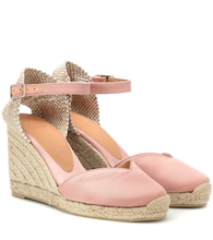 Chiarita satin wedge espadrilles