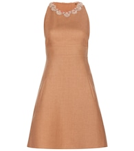 Embellished linen dress