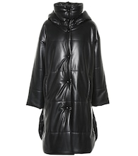Eska faux leather puffer coat