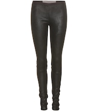 Leggings New Simple aus Veloursleder