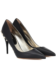 Valentino Garavani Jaw Studs 100 leather pumps