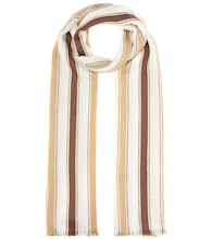 Cotton and linen-blend scarf