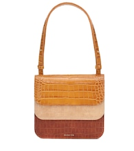 Ana embossed leather tote