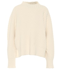 Oversized ribbed-knit wool sweater