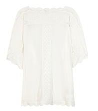 Axel embroidered crepe top