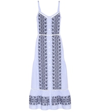 Joni embroidered cotton midi dress