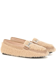 Double T shearling loafers