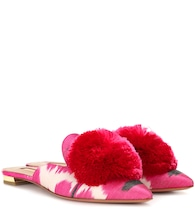 Powder Puff ikat slippers