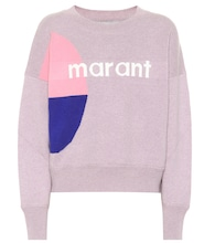 Logo cotton and wool sweater
