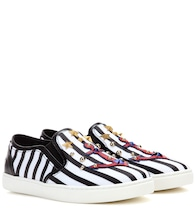 Striped slip-on sneakers
