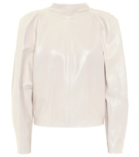 Caby leather blouse