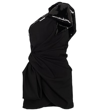 Verziertes One-Shoulder-Minikleid
