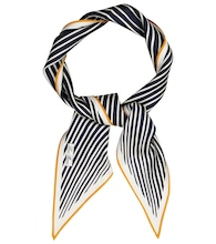 Lerins striped silk twill scarf