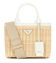 Wicker and canvas bag