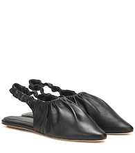 Zuo slingback leather ballet flats