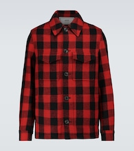 Wool checked overshirt