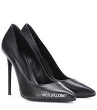 For Walking leather pumps