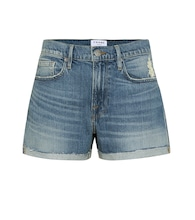 Le Brigette high-rise denim shorts