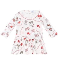 Baby printed stretch-cotton dress