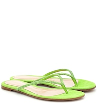 India suede thong sandals