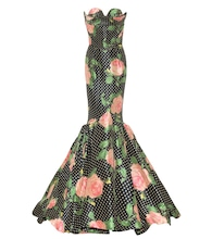 Floral satin gown