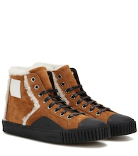 Young suede high-top sneakers