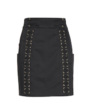 Embellished cotton miniskirt