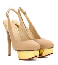 Dolly Slingback platform pumps