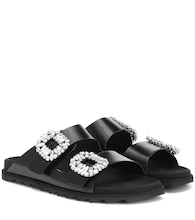 Slidy Viv' leather sandals