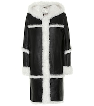 Meteo shearling-trimmed leather coat