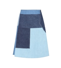 Turo patchwork denim skirt