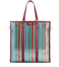 Bazar Medium striped mesh tote