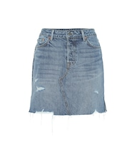 The Blaire high-rise denim miniskirt