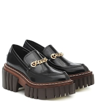 Emilie faux leather loafers