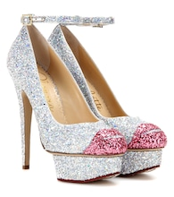 Kiss Me Dolores! glitter platform pumps