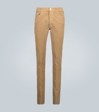 Pantaloni skinny in velluto a coste