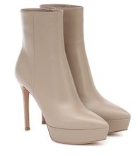 Dasha 120 leather ankle boots