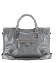 Giant City S leather tote