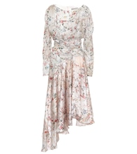 Kay floral satin dress