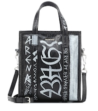 Bazar S Graffiti leather shopper