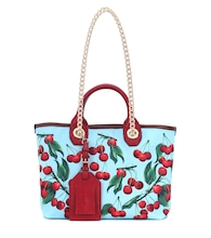Exclusive to Mytheresa – Capri cherry printed canvas shopper
