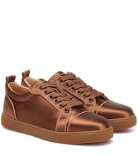Louis Junior silk-satin sneakers