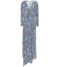 Ilona printed asymmetric maxi dress