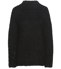 Mohair and wool-blend off-the-shoulder sweater