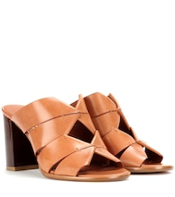 Evelina leather mules