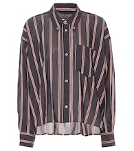 Ycao striped cotton-blend shirt